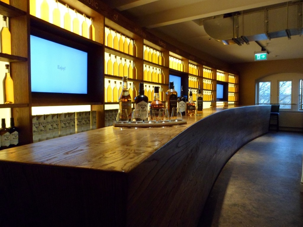 Tasting Bar at Irish Whiskey Museum in Dublin Ireland