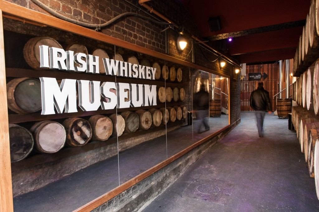 Main Entrance to Irish Whiskey Museum in Dublin Ireland
