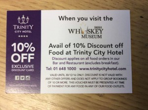 Irish Whiskey Museum, Dublin, Discount