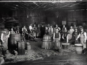 Workers in the Jameson Distillery Bow St., Dublin.